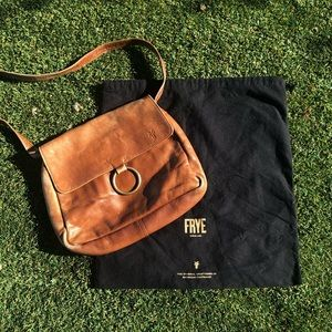 Frye brown leather purse + dust bag